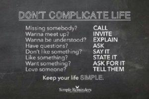 Don't complicate live fb