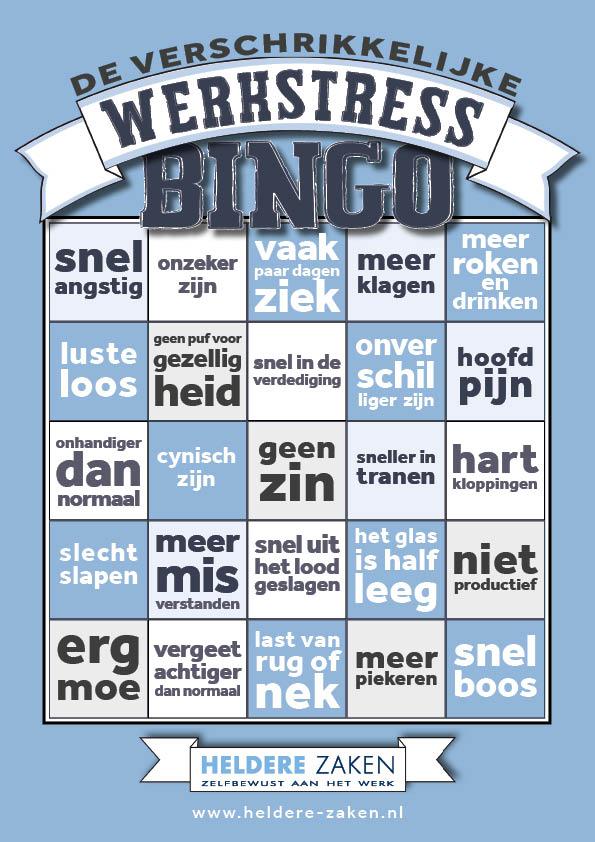 Werkstress Bingo